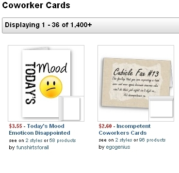A Great Selection of Printed Cards from Zazzle